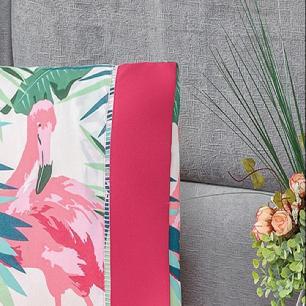 Jogo De Cama Solteiro 02 Peças Micropercal 200 Fios Naturale - Flamingo