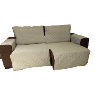 Protetor Para Sofá De 2 Módulos Microfibra Matelado Retrátil Reclinável Com Assento De 2,20M - Cáqui