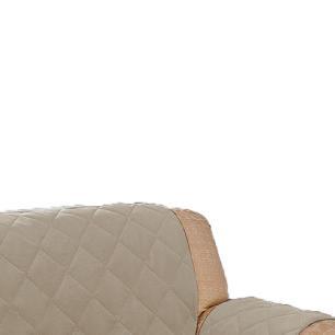 Protetor De Sofá Microfibra Matelado Retrátil Reclinável Com Assento De 2,30M - Cáqui