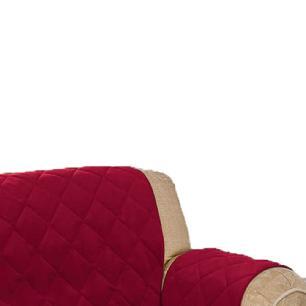 Protetor De Sofá Microfibra Matelado Retrátil Reclinável Com Assento De 1,90M - Vinho