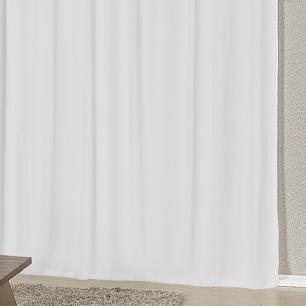 Cortina Com Bandô Esplendore Em Malha Gel 3,00M x 2,60M Para Varão Duplo - Vermelho Com Branco