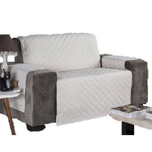 Protetor Para Sofá De 02 Lugares Com Assento De 1,40M Microfibra Matelado - Palha