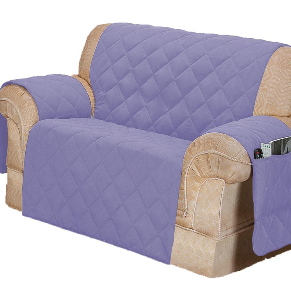 Protetor Para Sofá De 02 Lugares Com Assento De 1,00M Microfibra Matelado - Lilás
