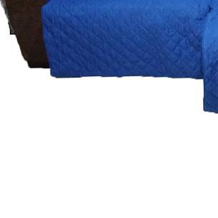 Protetor Para Sofá De 2 Módulos Microfibra Matelado Retrátil Reclinável Com Assento De 1,80M - Azul
