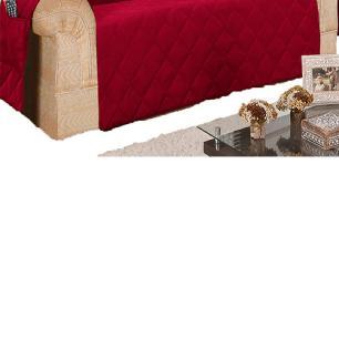 Protetor Para Sofá De 03 E 02 Lugares Microfibra Matelado - Vinho