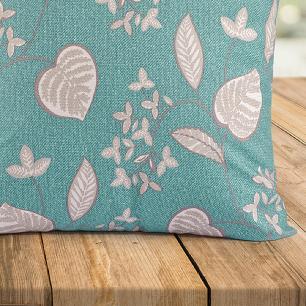 Kit 04 Almofadas Decorativas Com Capa 40cm X 40cm Tecido Suede - Azul