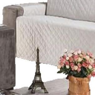 Protetor Para Sofá De 03 Lugares Com Assento De 1,30M Microfibra Matelado - Palha