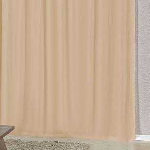 Cortina Com Bandô Esplendore Em Malha Gel 2,00M x 1,70M Para Varão Duplo - Tabaco Com Avelã