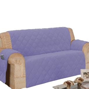 Protetor De Sofá Microfibra Matelado Retrátil Reclinável Com Assento De 1,80M - Lilás