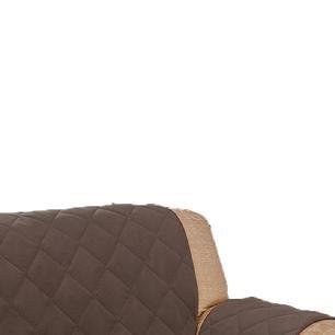 Protetor De Sofá Microfibra Matelado Retrátil Reclinável Com Assento De 2,20M - Tabaco
