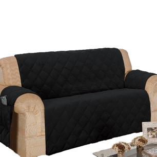 Protetor Para Sofá De 03 Lugares Com Assento De 1,40M Microfibra Matelado - Preto