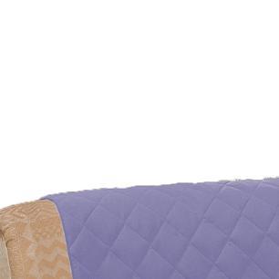 Protetor De Sofá Microfibra Matelado Retrátil Reclinável Com Assento De 2,20M - Lilás