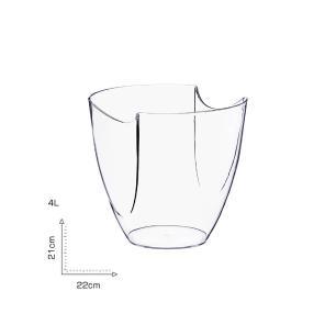 Champanheira Modular Transparente Poliestireno P/ 1 Garrafa (4 Litros)