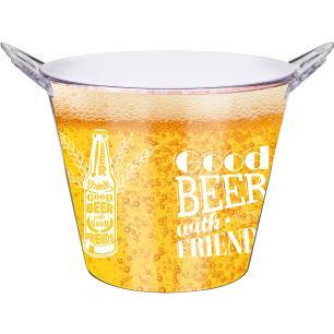 Balde Beer Duplo Poliestireno 6 litros com Abridor na Alça Friends