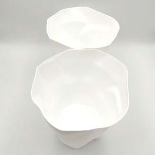 2 Lixeiras em Plástico Design Textura de Papel 7 Litros