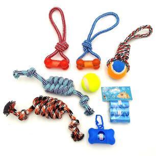 Conjunto Brinquedos e Saquinho Pet - 8 itens