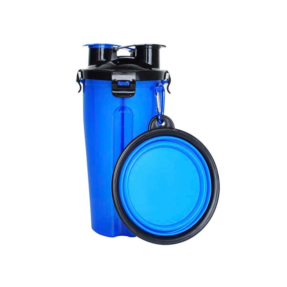 Recipiente 2 Potes e Porta Saco Refil 10 Rolos - Azul