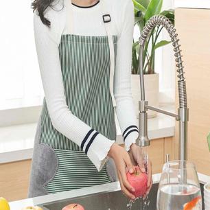 Avental Cozinha com Lateral Atoalhada pra Secar Mãos