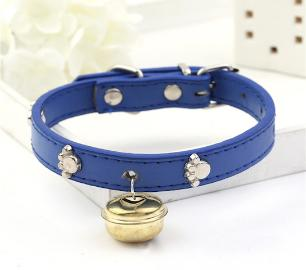 2 Coleiras Pet Courino Azul M 35cm