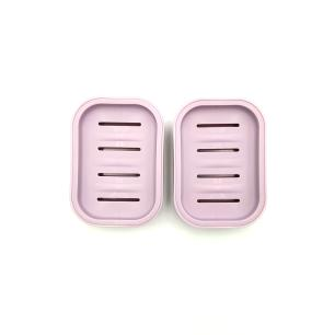 Kit 2 Saboneteiras de Plástico Rosa