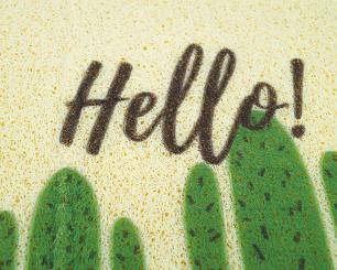 Tapete Capacho 40x60cm Folhas/Cactus