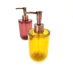 Kit 2 Porta Sabonete Líquido - Amarelo e Vermelho