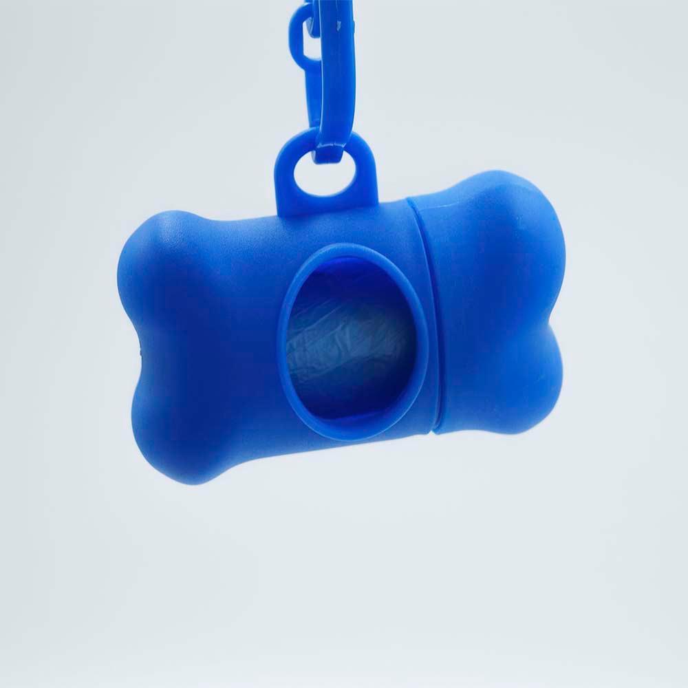 Porta Saquinho com 6 Rolos Sacos Higiênicos  - Azul