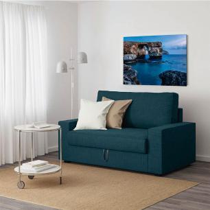 Quadro Decorativo Roncalli Impressão em Vidro Paisagem Mar