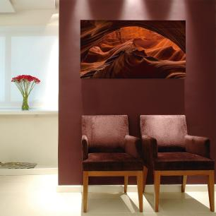 Quadro Decorativo Abstrato Rocha Impresso em Vidro Roncalli