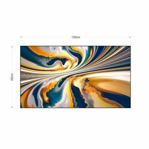 Quadro Abstrato Decorativo Impressão em Vidro Roncalli