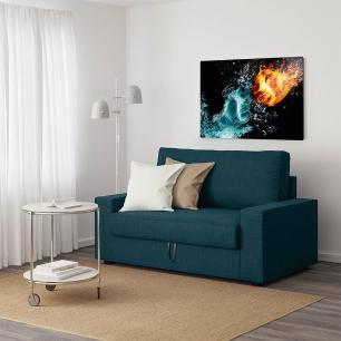 Quadro Decorativo Impresso Vidro Roncalli Abstrato Energia