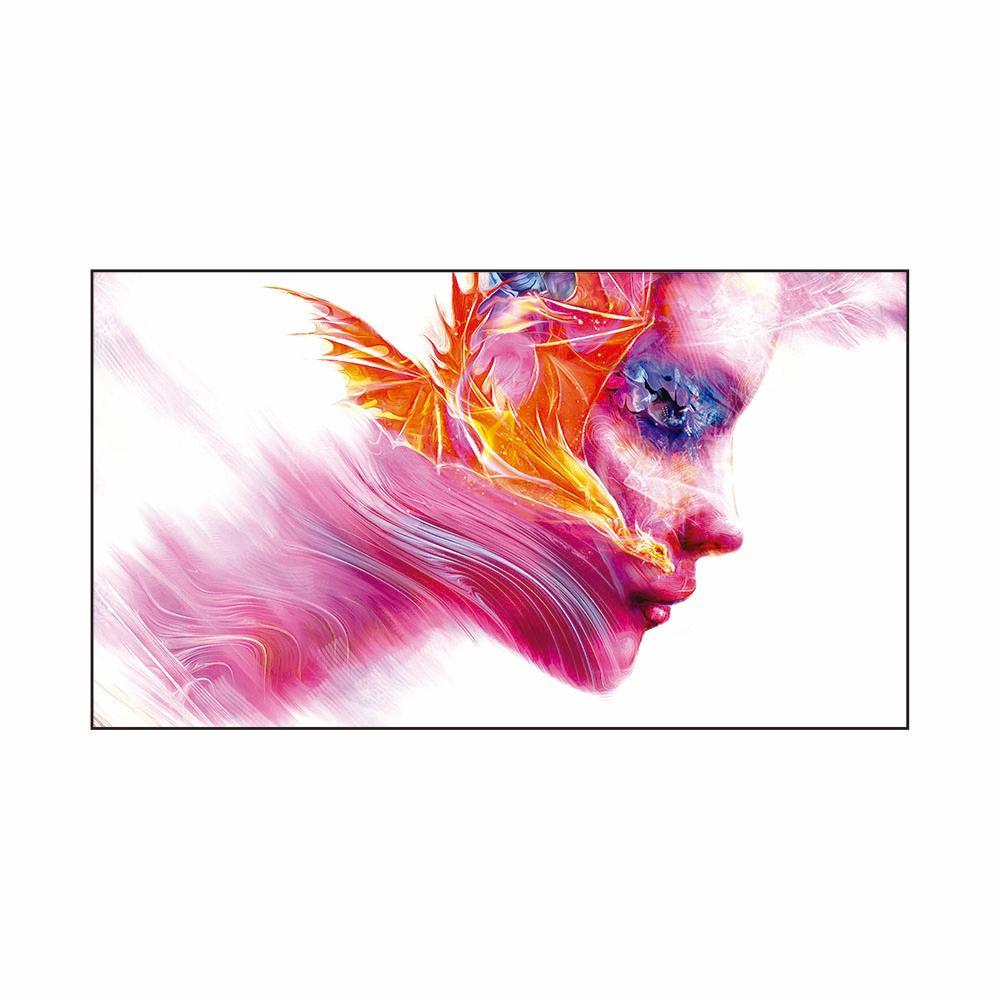 Quadro Decorativo Roncalli Rosto Abstrato Impresso em Vidro