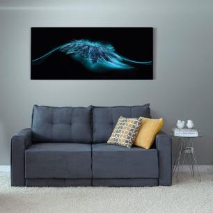 Quadro Decorativo Abstrato Roncalli Decor Impressão Vidro