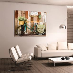 Quadro Decorativo Impressão em Vidro Roncalli Bike Decorar