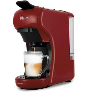 Cafeteira Philco PCF19VP, Multicápsula, Reservatório 0.6L, 1400W, Vermelha/Preto - 110V