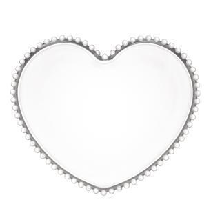 Prato de Pão Coração Cristal Pearl