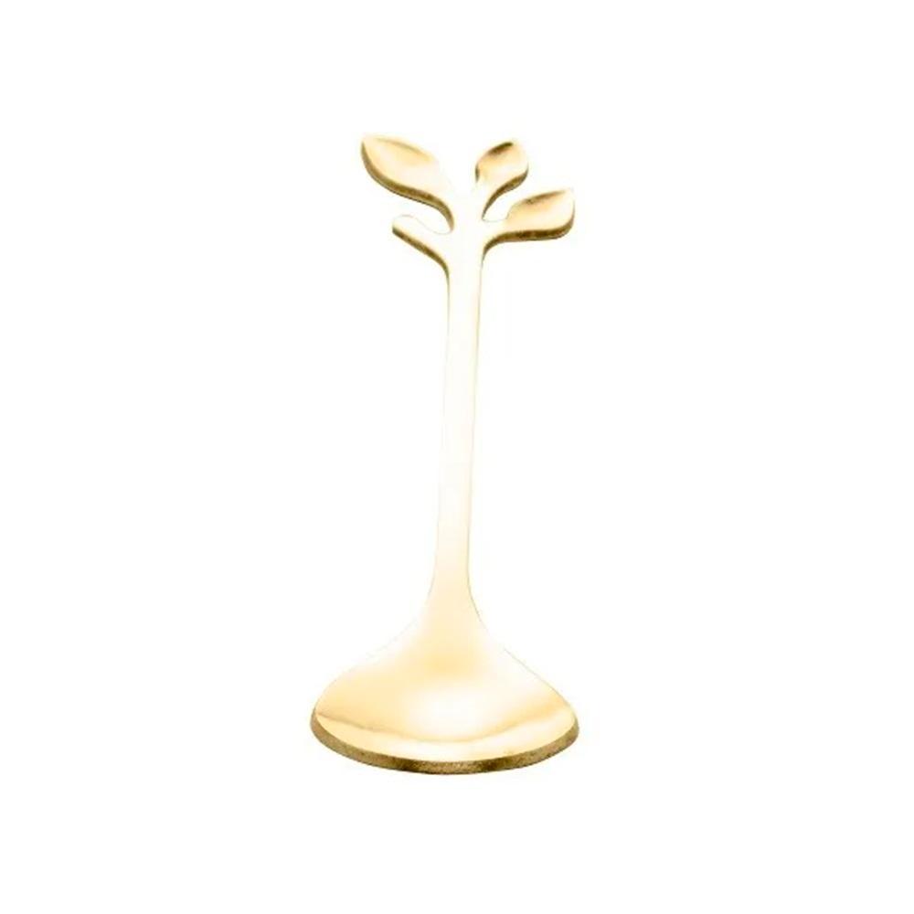 Cj. Colher Leaves Dourado