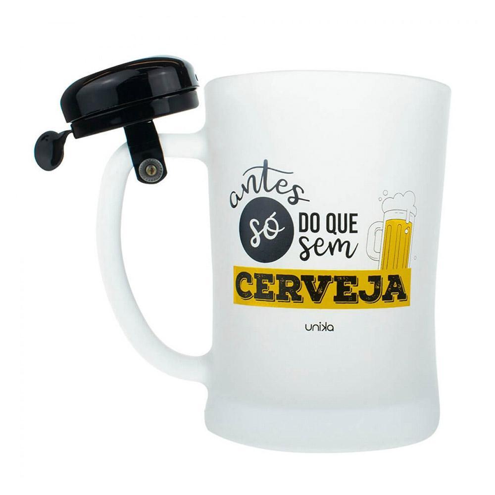 Caneca Campainha Cerveja Vidro