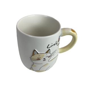 Caneca Gato Relevo - Lively Cat
