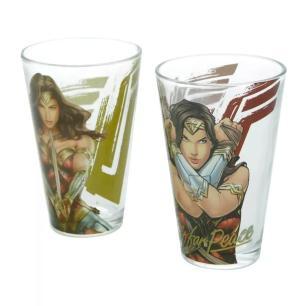 Kit Copos vidro DC Mulher Maravilha