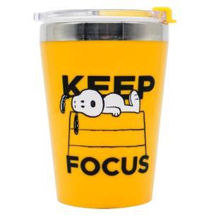 Copo Viagem Snap Snoopy Keep Focus