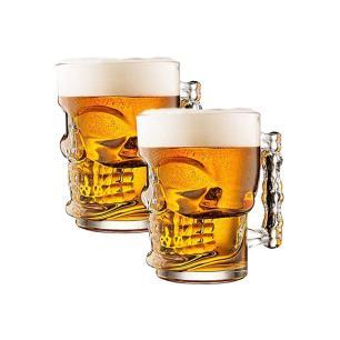 Kit 2 Canecas de Chopp Caveira Viking Cerveja - 500ml