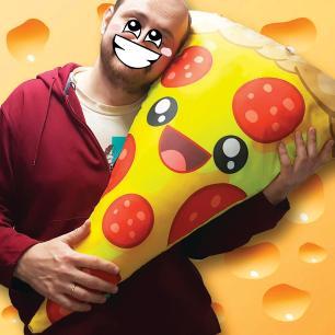 Almofada Pizza Gigante Feliz