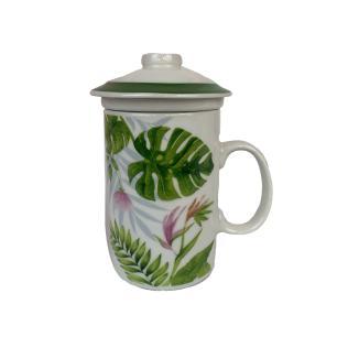 Caneca Plantas Kook - Flor Rosa