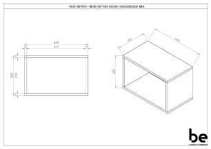 Prateleira Quadrada Retrô 45cm em Espresso - BE Mobiliário