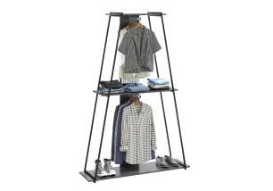 Guarda-roupa Closet com 2 Cabideiros e Prateleira Tog em Espresso - BE Mobiliário