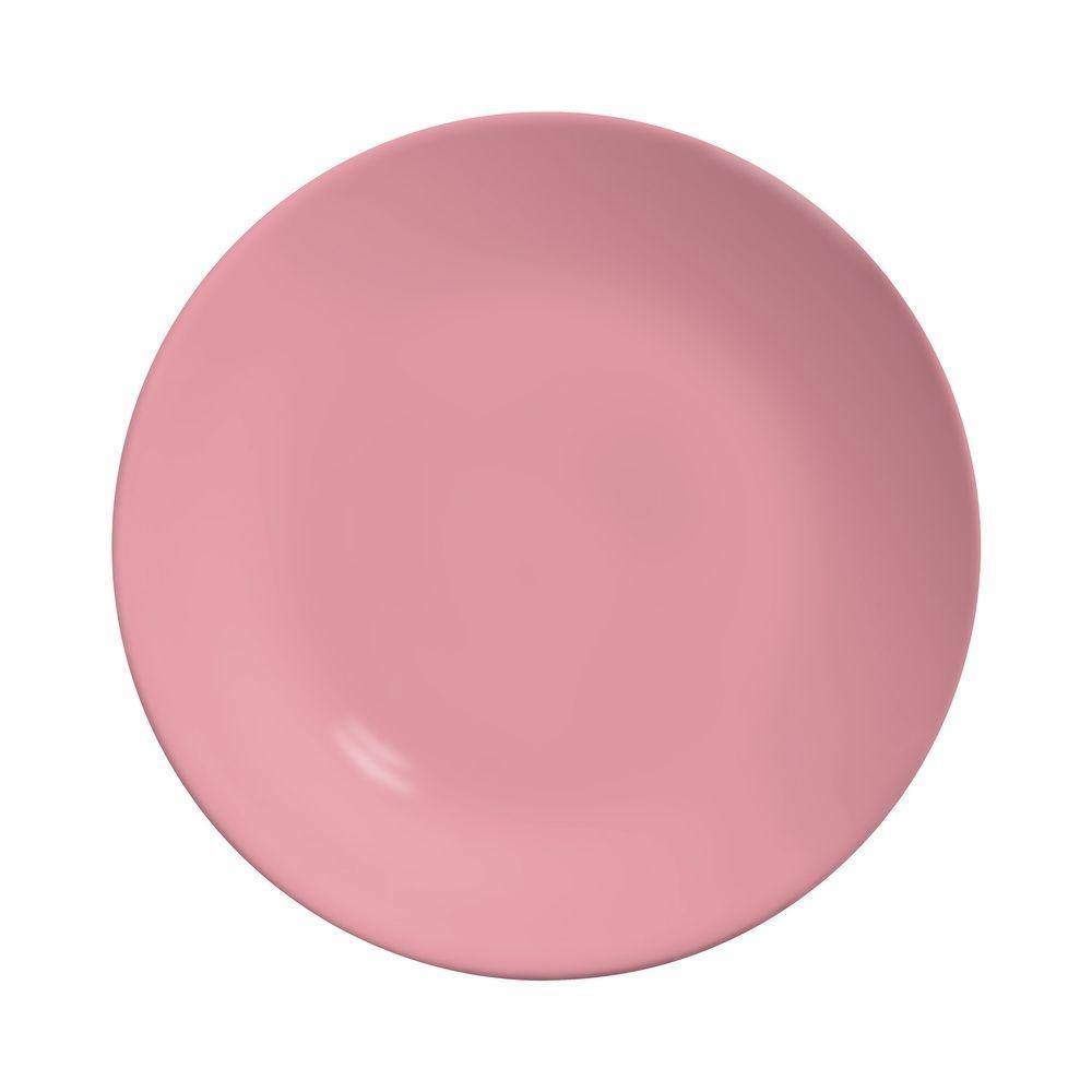 Prato Raso 27cm Rainbow Rosa
