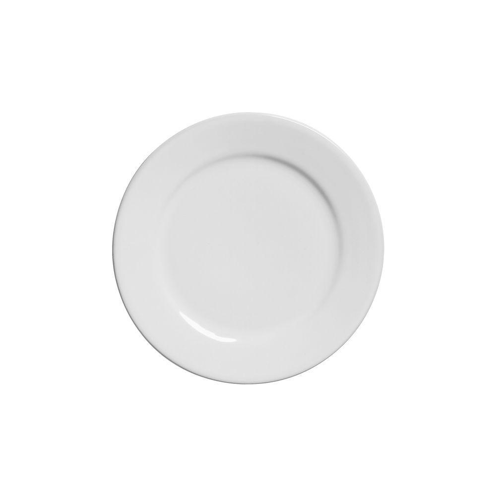 Prato De Sobremesa 20cm Linha Reta Branco