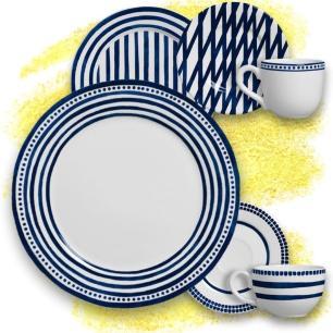 Xícara De Chá Ibiza Branco Azul