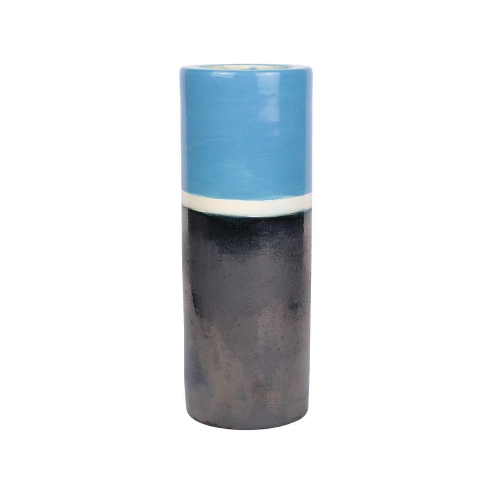 Vaso Alto 25cm Santorini Azul